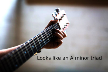 Example of triads in music: a minor triad