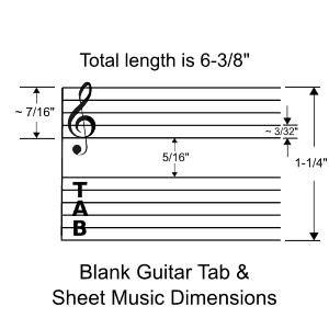 Blank guitar tab sheet music PDF files