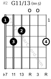 G11/13 extended chord 1st position variation