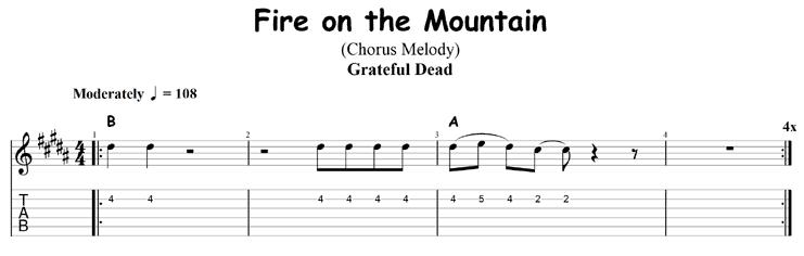 Fire on the Mountain chorus