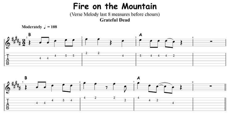 Fire on the Mountain end of verse