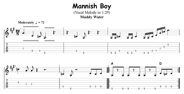 Two Chord Songs: Mannish Boy by Muddy Waters