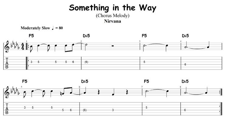 Something in the Way chorus