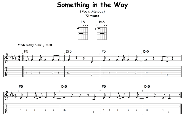 Two Chord Songs: Something in the Way by Nirvana
