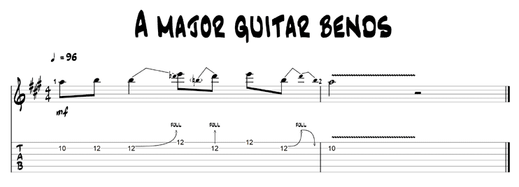 A major guitar bend
