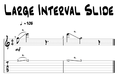 large interval guitar slides